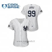 Maglia Baseball Donna New York Yankees 99 Aaron Judge Cool Base 2019 London Series Bianco