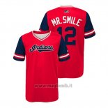 Maglia Baseball Bambino Cleveland Indians Francisco Lindor 2018 Llws Players Weekend Mr. Smile Rosso