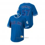 Maglia Baseball Uomo Toronto Blue Jays Trent Thornton Cooperstown Collection Blu