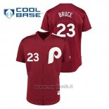 Maglia Baseball Uomo Philadelphia Phillies 23 Jay Bruce 1979 Saturday Night Special Autentico Rosso