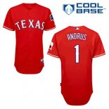 Maglia Baseball Uomo Texas Rangers Elvis Andrus 1 Rosso Alterner Cool Base