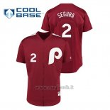 Maglia Baseball Uomo Philadelphia Phillies 2 Jean Segura 1979 Saturday Night Special Autentico Rosso