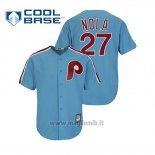 Maglia Baseball Uomo Philadelphia Phillies Aaron Nola Cool Base Cooperstown Collection Blu