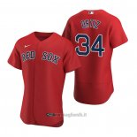 Maglia Baseball Uomo Boston Red Sox David Ortiz Autentico Alternato 2020 Rosso