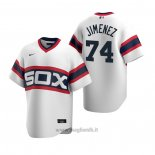 Maglia Baseball Uomo Chicago White Sox Eloy Jimenez Cooperstown Collection Primera Bianco