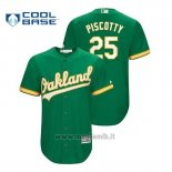 Maglia Baseball Uomo Oakland Athletics Stephen Piscotty Cool Base Official Alternato Kelly Green