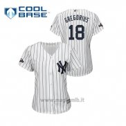 Maglia Baseball Donna New Y Ork Yankees 18 Didi Greg Orius 2019 Postseason Cool Base Bianco
