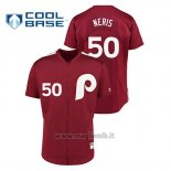 Maglia Baseball Uomo Philadelphia Phillies 50 Hector Neris 1979 Saturday Night Special Autentico Rosso