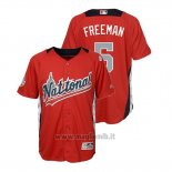 Maglia Baseball Bambino All Star Game Majestic Freddie Freeman 2018 Home Run Derby National League Rosso