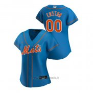 Maglia Baseball Donna New York Mets Personalizzate 2020 Replica Alternato Blu