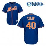Maglia Baseball Uomo New York Mets Bartolo Colon 40 Blu Alterner Home Cool Base