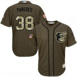 Maglia Baseball Uomo Baltimore Orioles Majestic 38 Jimmy Parojoes Salute To Service Olive