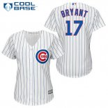 Maglia Baseball Uomo Chicago Cubs 17 Kris Bryant Bianco Home Cool Base