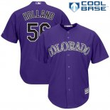 Maglia Baseball Uomo Colorado Rockies Greg Holland 56 Viola Cool Base