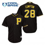Maglia Baseball Uomo Pittsburgh Pirates Brandon Cumpton 28 Nero Alterner Cool Base