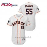 Maglia Baseball Uomo Houston Astros Ryan Pressly 2019 All Star Flex Base Bianco