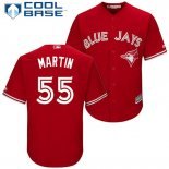 Maglia Baseball Uomo Toronto Blue Jays 55 Russell Martin Scarlet2017 Cool Base