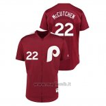 Maglia Baseball Uomo Philadelphia Phillies 22 Andrew Mccutchen 1979 Saturday Night Special Autentico Rosso