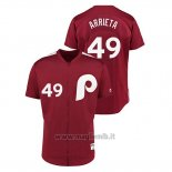 Maglia Baseball Uomo Philadelphia Phillies 49 Jake Arrieta 1979 Saturday Night Special Autentico Rosso